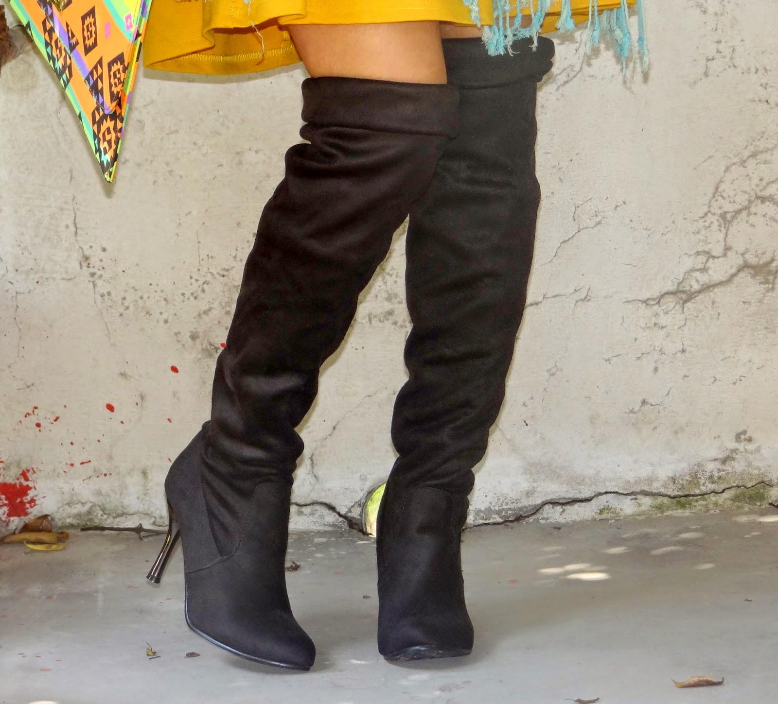 Dresslink over the knee boots