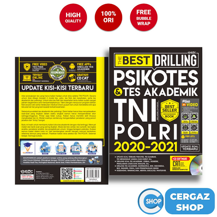THE BEST DRILLING PSIKOTES & TES AKADEMIK TNI POLRI 2020-2021