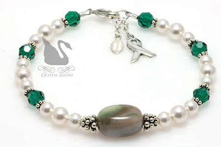 Jasper Gemstone Organ Transplant Awareness Bracelet (B165)