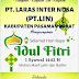 """PT. LARAS INTER NUSA Mengucapkan, """"Selamat Hari Raya Idul Fitri 1442 H""""."""