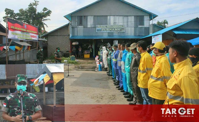 Hari Ketiga Semprot Serok, Pangdam XII Tanjungpura Apresiasi Upaya Tim Gabungan Cegah Covid-19