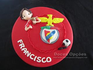 Bolo para o aniversário do benfiquista Francisco