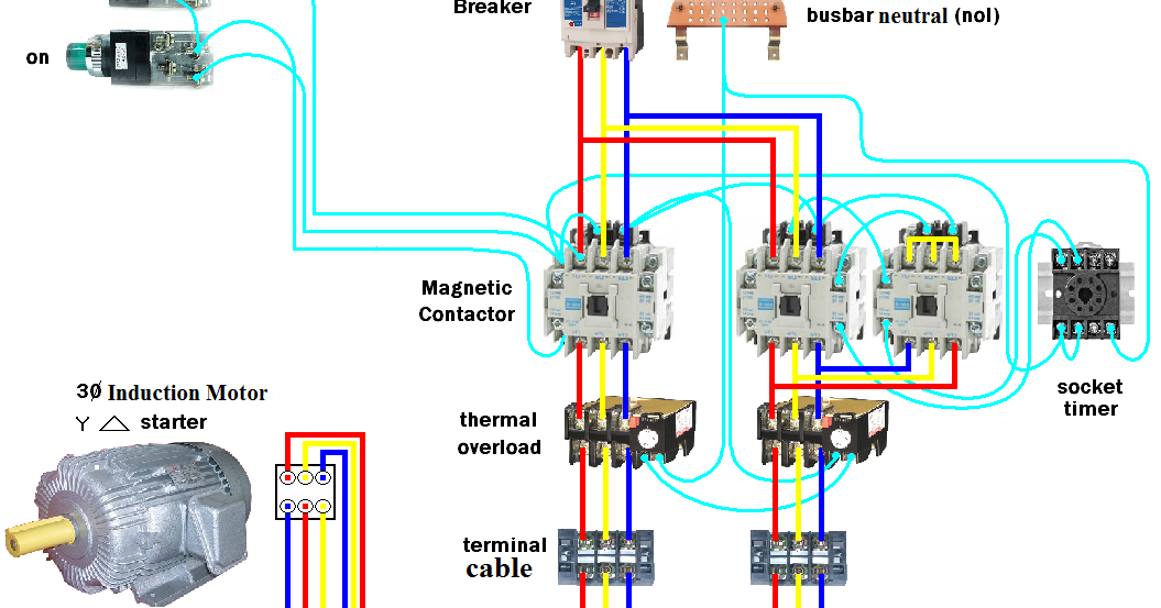 Electrical Page: D.O.L Starter Motor Wiring Diagram (Star ...