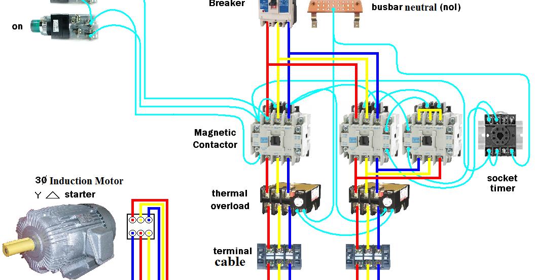 Electrical Page: DOL Starter Motor Wiring Diagram (Star