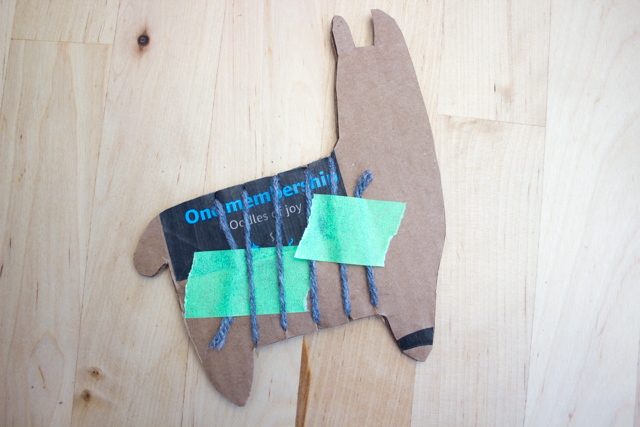 How to Weave an Adorable Cardboard Llama- Such a fun and easy way to introduce weaving to kids