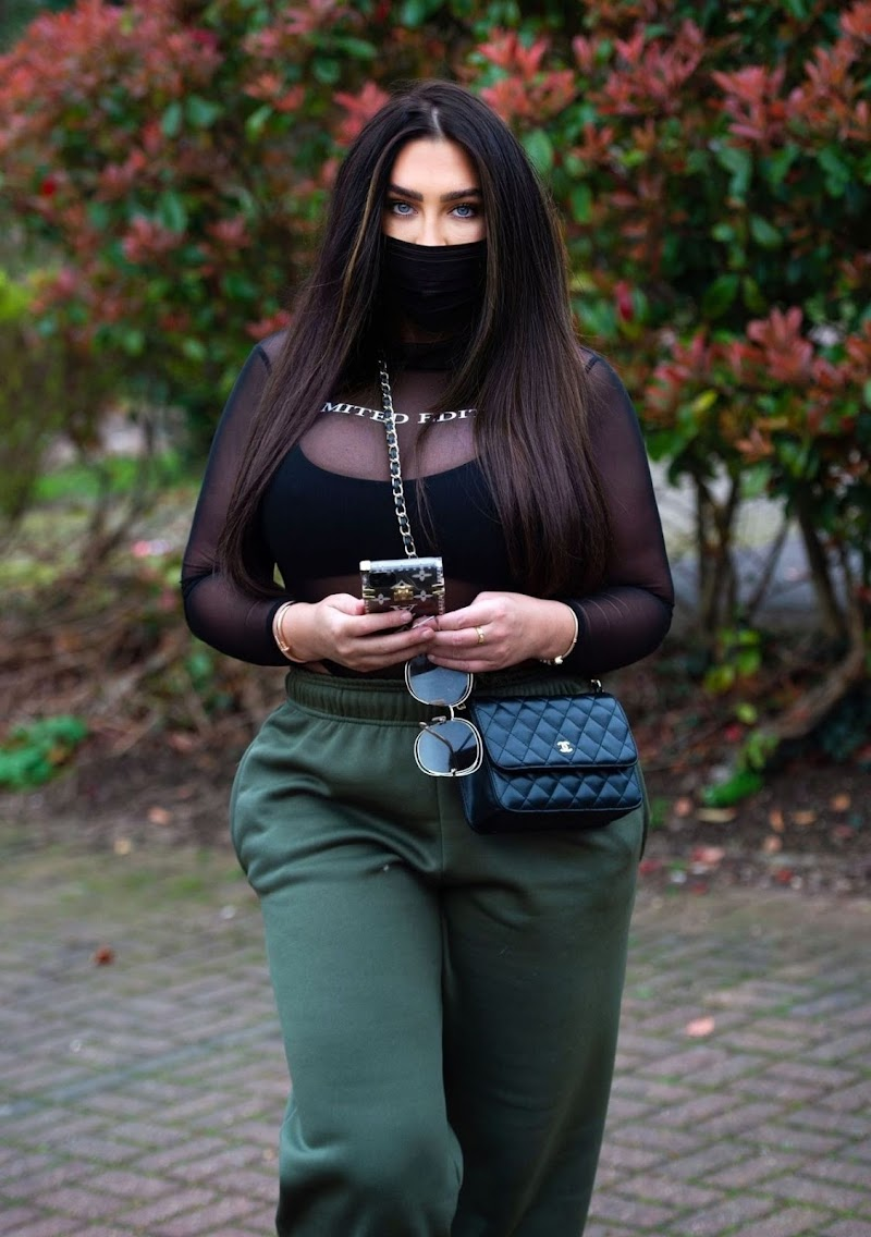 Lauren Goodger  Clicked With Face Mask Out in Essex 20 Mar -2020