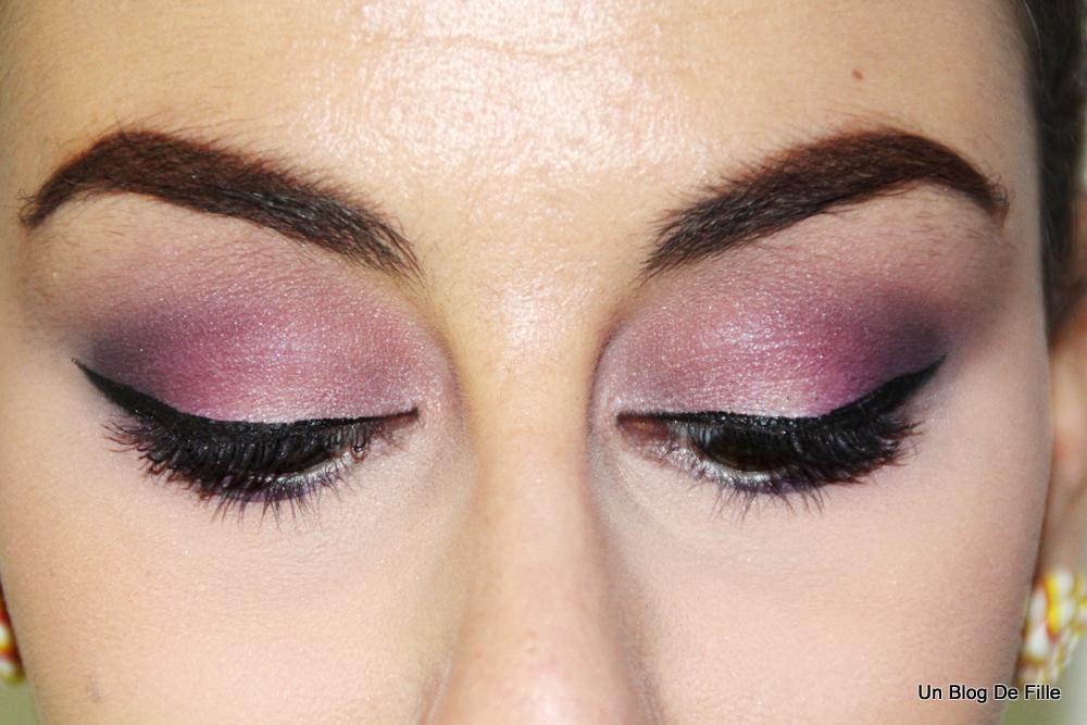 un blog de fille maquillage violet purple makeup msc violine. Black Bedroom Furniture Sets. Home Design Ideas