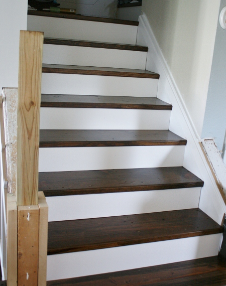 Remodelaholic | On the Rise; Adding the Stair Risers ...