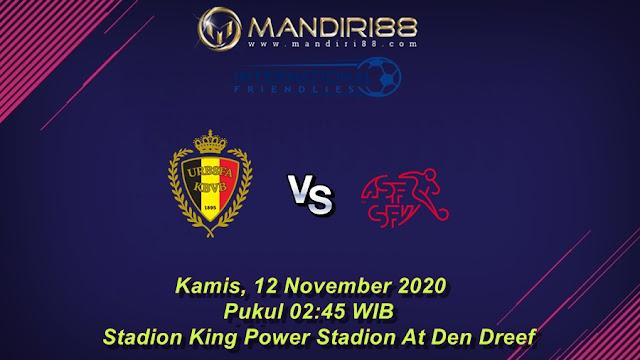 Prediksi Belgia Vs Swiss, Kamis 12 November 2020 Pukul 02.45 WIB @ Mola TV