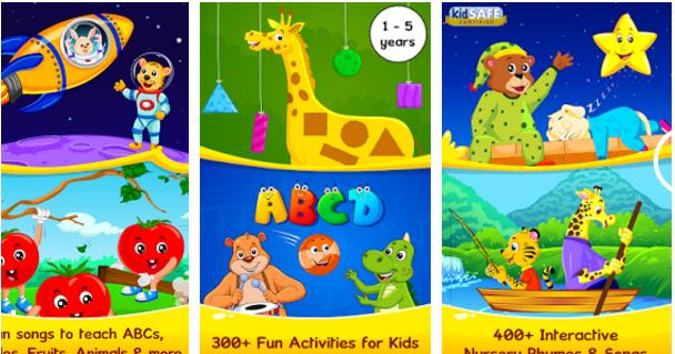 لعبة Nursery Rhymes لتعليم الحروف الانجليزية للأطفال