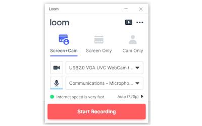 برنامج تسجيل الشاشة Loom