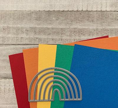 My Favorite Things Rainbow Die and Cardstock