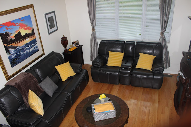 Redecorating My Living Room With Gray And Yellow Barbara
