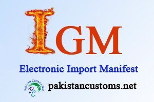 Electronic Import Manifest in Paksitan