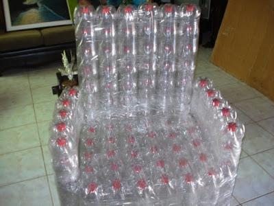 reciclar reciclando reciclagem diy faça voce mesmo garrafa pet embalagem artesanato reutilizavel reutilizando sustentabilidade poltrona sofa movel
