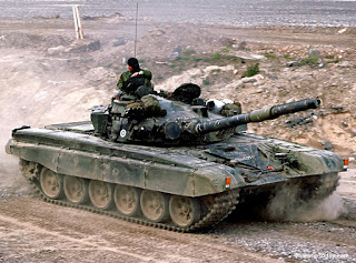 Russian-made tank in Syria