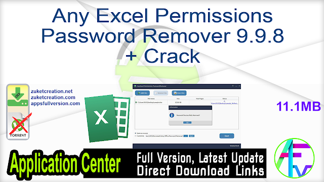 Any Excel Permissions Password Remover 9.9.8 + Crack