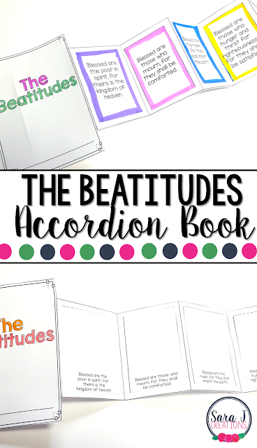 The Beatitudes Mini Book is the perfect activity for teaching kids about the Beatitudes from Matthew's version of the Gospel (Catholic edition)
