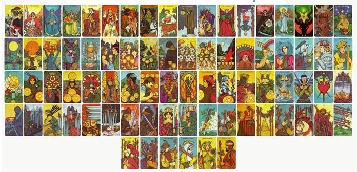 распечатки колода карт Таро