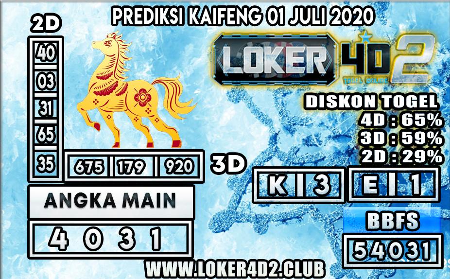 PREDIKSI TOGEL KAIFENG LOKER4D2 01 JULI 2020