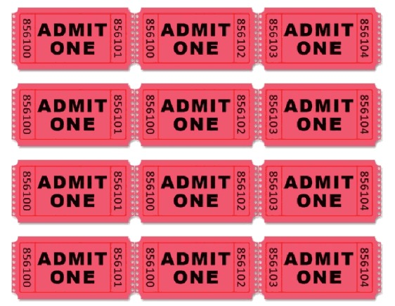 picture relating to Printable Tickets known as absolutely free printable tickets env-1198748-resume.cloud