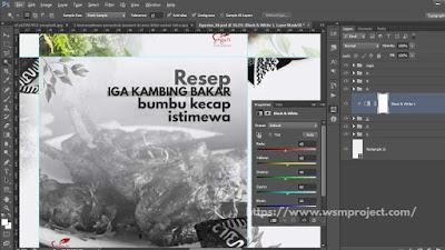 Ubah foto menjadi Hitam Putih di photoshop