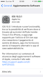 Aggiornate iOS (di nuovo):