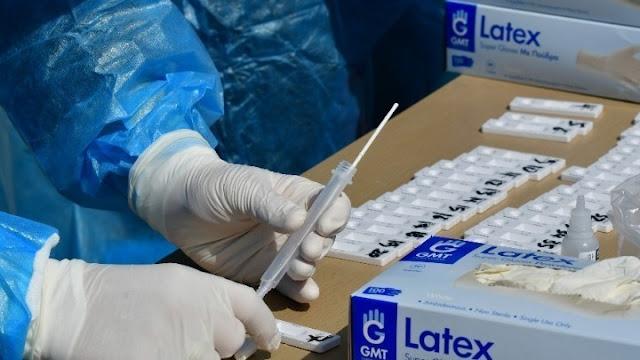 Αργολίδα κορωνοϊός: Τα αποτελέσματα των rapid test την Κυριακή 3/10 στο Ναύπλιο
