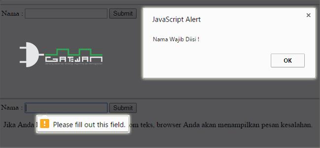 Membuat Validasi Form HTML5 Dengan JavaScript