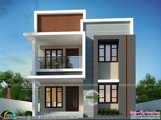 4 bedrooms ,1870 sq. ft. modern home design.