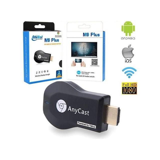 【高清播放】Anycast M9 Plus 無線同屏投射器 支援 iPhone、Android 使用