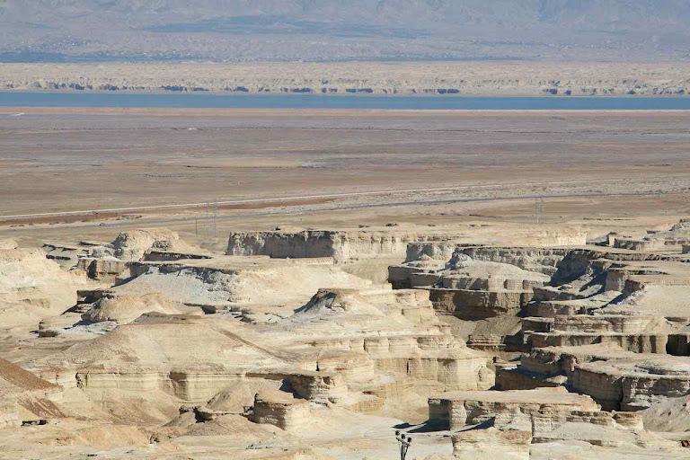 Panorama de cinzas na região de Sodoma e Gomorra junto ao Mar Morto