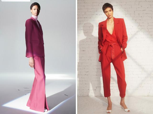 Розовый и красный костюм