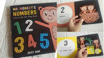 flip book mr monkey belajar angka