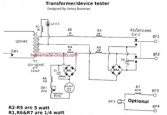 Simple Transformer Winding Tester