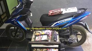 Cara pasang alarm motor remote pada Honda Vario 110 Fi