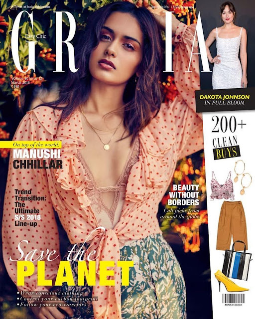 Manushi Chhillar on Grazia Magazine cover Girl
