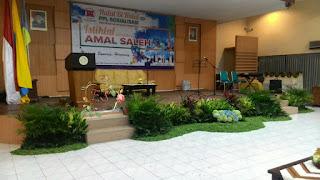 dekorasi taman panggung di aula tirta unair
