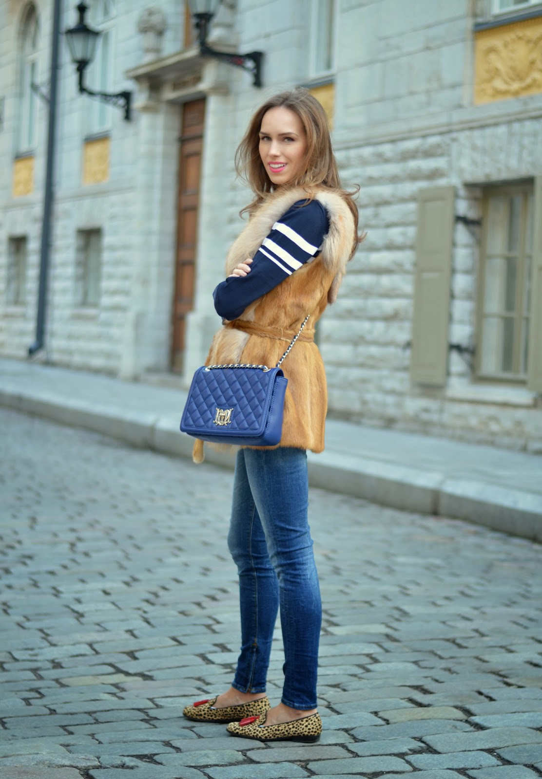 moschino-quilted-blue-bag-guess-jeans-il-.mio-furry-leopard-slippers kristjaana mere