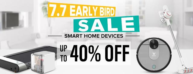 7.7 EARLY BIRD SALE - Uma boa promoção na Geekbuying