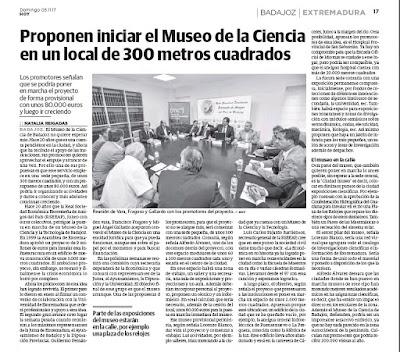 Museo de la Ciencia, Badajoz. Lorenzo J. Blanco