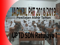 Jadwal PAT/UKK Tahun Pelajaran 2018/2019