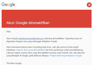 Cara Memulihkan Akun Gmail Yang Dinonaktifkan (Disabled)