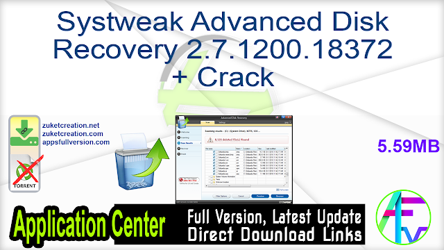 Systweak Advanced Disk Recovery 2.7.1200.18372 + Crack