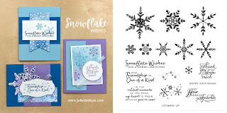 Stampin' Up! Snowflake Wishes Card Kit  ~ August-December 2020 Mini Catalog ~ Stamp of the Month Club Card Kit ~ www.juliedavison.com