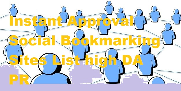 Instant Approval Social Bookmarking Sites List 2020