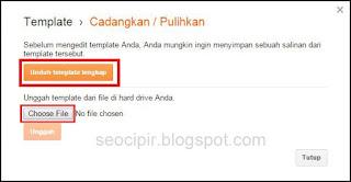Cara Pasang Template Blog Hasil Download Untuk Blogspot