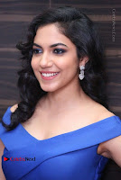 Actress Ritu Varma Pos in Blue Short Dress at Keshava Telugu Movie Audio Launch .COM 0065.jpg