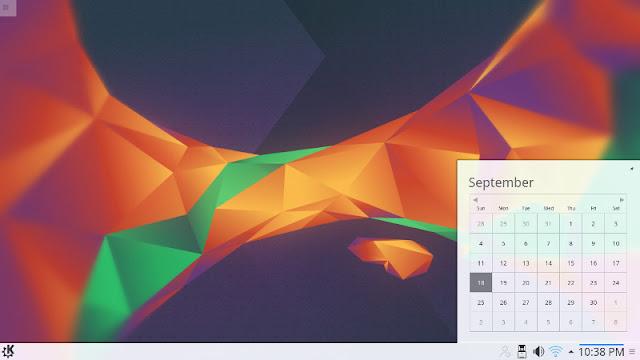 Kubuntu calendar