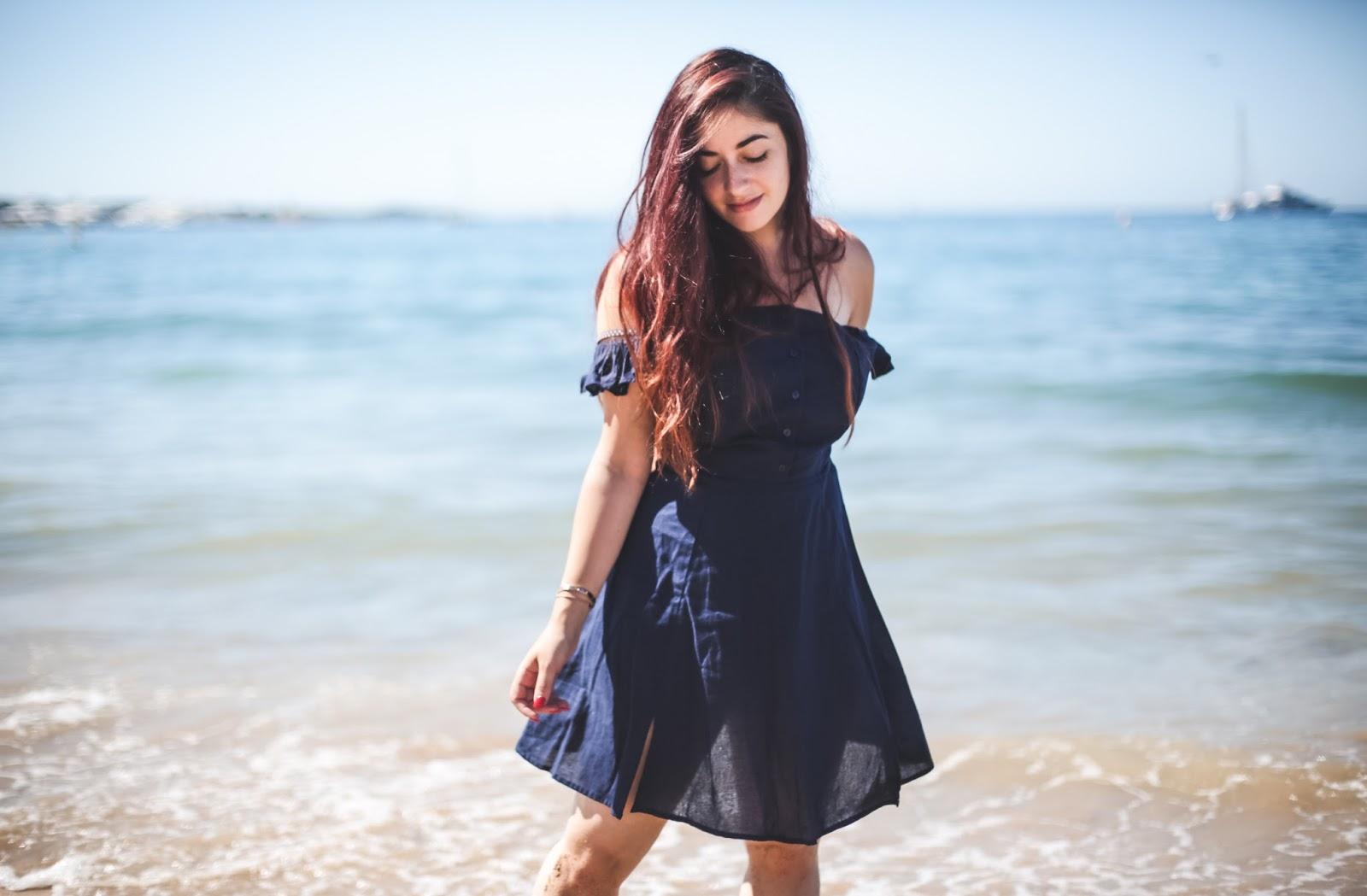 robe à fentes et volants asos